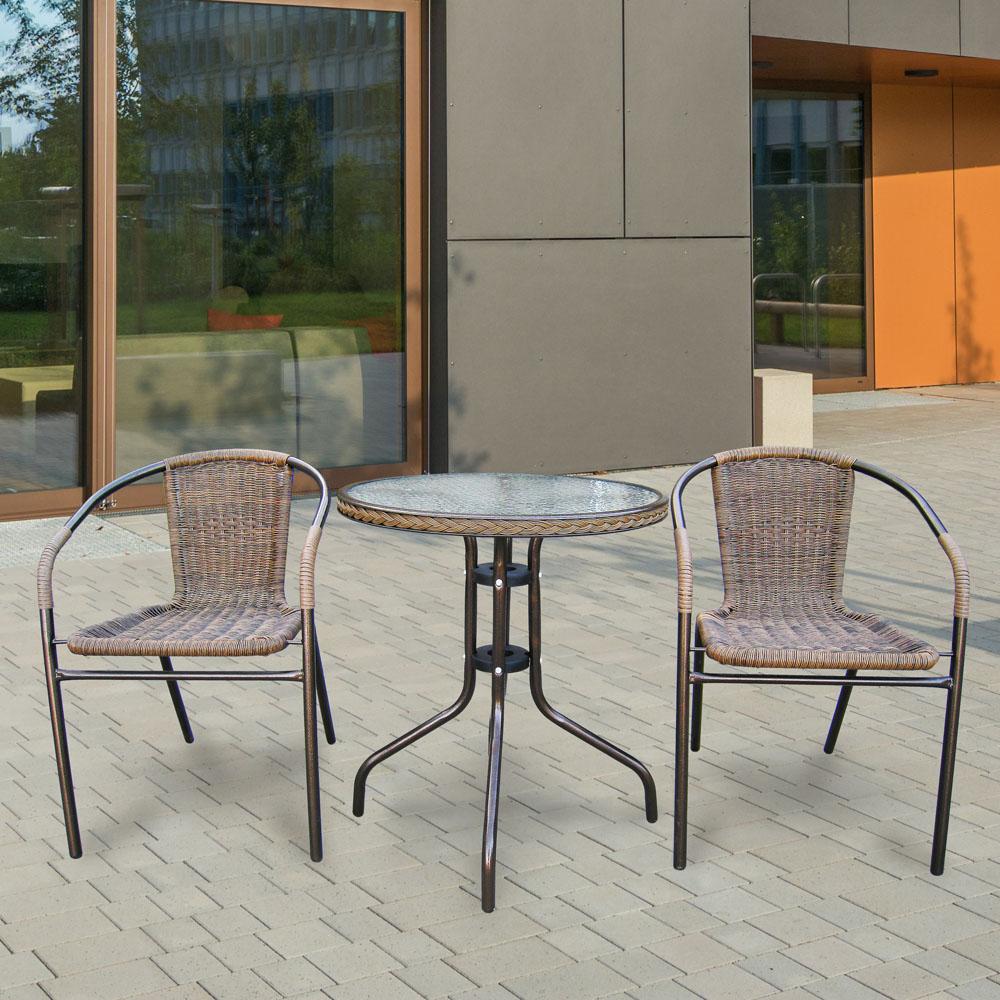 Плетеная мебель для кафе комплектами