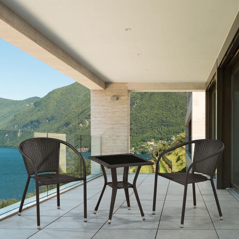 Комплект мебели для балкона из искусственного ротанга - цена.